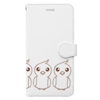 ぴょぴょちゃんズ・ヨコ Book-style smartphone case