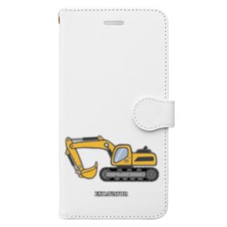ショベルカー Book-style smartphone case