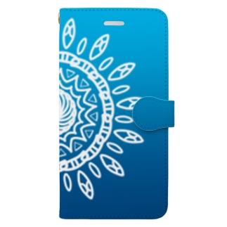 太陽(夜) Book-style smartphone case