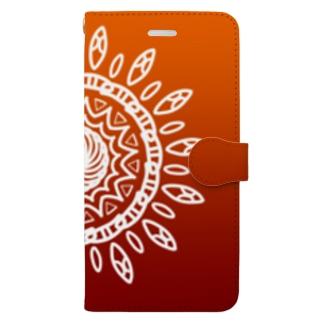 太陽(昼) Book-style smartphone case