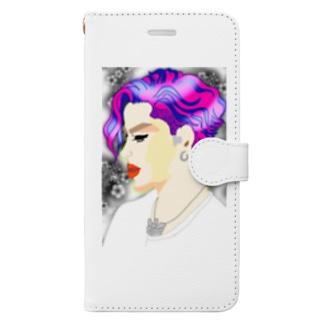 横顔 Book-style smartphone case