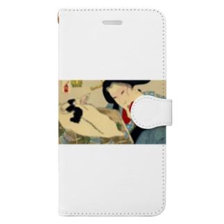 イガリメイクの走り 浮世絵 猫 Book-style smartphone case