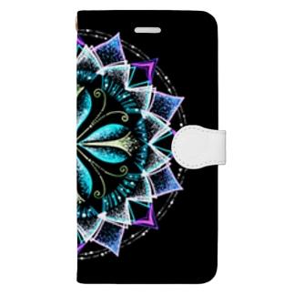 静謐﹣点描曼荼羅 Book-style smartphone case