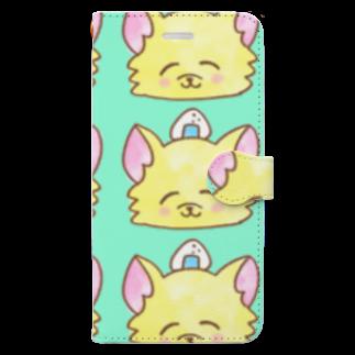 ナマコラブ💜👼🏻🦄🌈✨のおにぎりチワワ ゆるチワワ NAMACOLOVE Book-style smartphone case