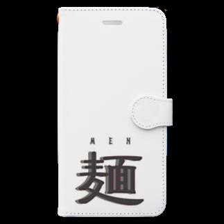 アメリカンベースの麺 MEN Book-style smartphone case