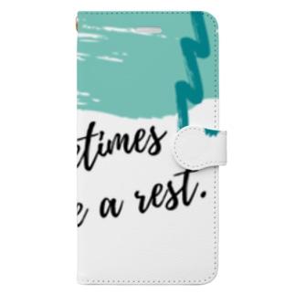 たまには休んだら?ケース Book-style smartphone case