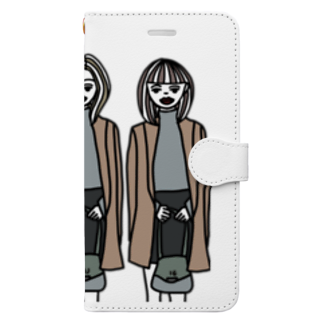 nidjigの髪型だけは絶対にかぶらない三つ子姉妹 Book-style smartphone case
