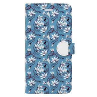 【Magnolia/マグノリア】 ターコイズ Book-style smartphone case