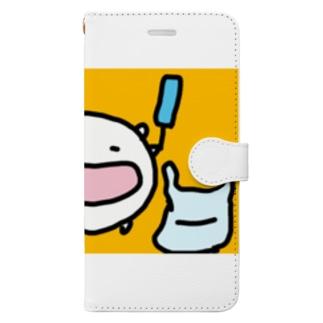 心置きなくアイスを食うと決心したねこです Book-style smartphone case