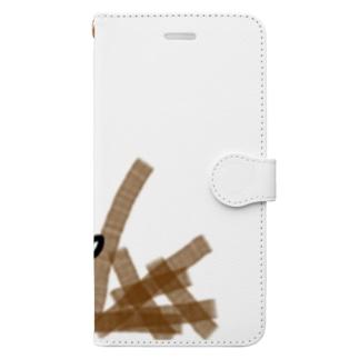 つまずいてゴボウをぶちまけるねこです Book-style smartphone case