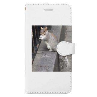 scat_kingramのリスさん Book-style smartphone case