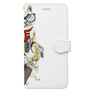 Rock catのサラリーキャット Book-style smartphone case