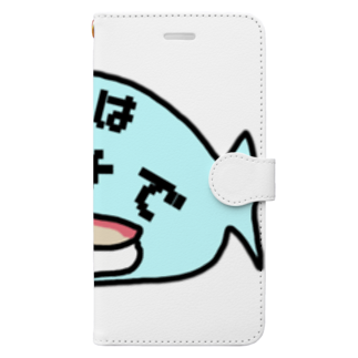 ダイナマイト87ねこ大商会のまずはハマチで Book-style smartphone case