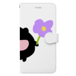 近所のくろちゃん Book-style smartphone case