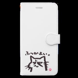 ショカ(=ФωФ=)ネコのお店 SUZURI支店のひまんがCat(ふつかよい) Book-style smartphone case