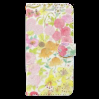 ℂ𝕙𝕚𝕟𝕒𝕥𝕤𝕦 ℍ𝕚𝕘𝕒𝕤𝕙𝕚 東ちなつのgarden dream Book-style smartphone case