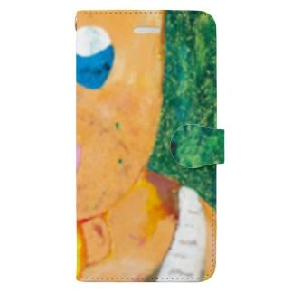 ちんあごおじさん Book-style smartphone case