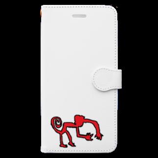 アメリカンベースのナスカのサル Book-style smartphone case