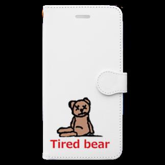アメリカンベースのTired bear 疲れたぬいぐるみ Book-style smartphone case