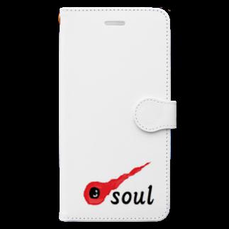 アメリカンベースの魂 soul Book-style smartphone case