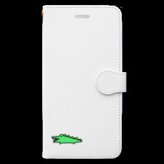 はむこストアのワニコさん Book-style smartphone case