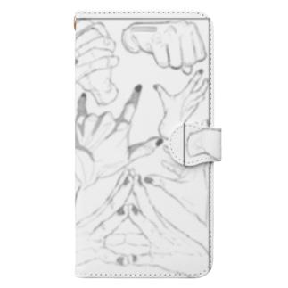 手 Book-style smartphone case