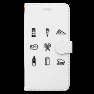 hanakumaの文房具 Book-style smartphone case