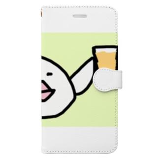 乾杯の音頭をとる白文鳥です Book-style smartphone case