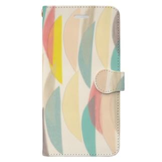 カラフル半月模様 Book-style smartphone case
