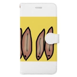うなぎの蒲焼きを立てまくるねこです Book-style smartphone case