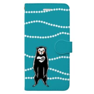 ぐるぐるマレーグマくん Book-style smartphone case