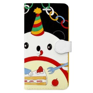 お誕生日のパンダさん Book-style smartphone case