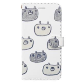 しろいくまくろいくま手帳型すまほけーす Book-style smartphone case