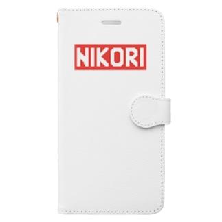 ニコリマーク(ドット) Book-style smartphone case