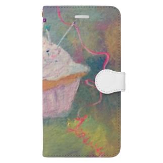 針山カップケーキ Book-style smartphone case