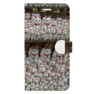 招き猫 Book-style smartphone case