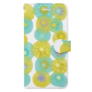 いろ・いろ・いろ(Flower) Book-style smartphone case