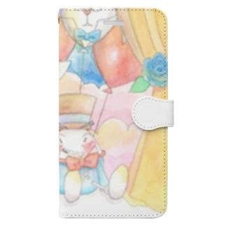 ワンダーランドへの幕開け Book-style smartphone case