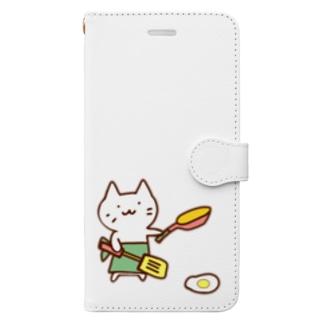 じろにゃん 趣味はお料理 Book-style smartphone case