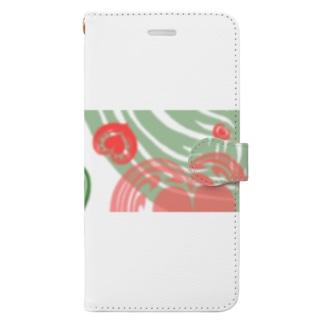 【ラテアート】レイヤーラテアート/レッドグリーン2 Book-style smartphone case