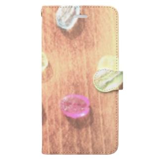 【コーヒー豆】レトロなキャンディービーンズ Book-style smartphone case