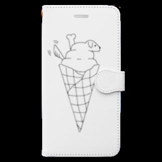 まっしゅのソフトドッグ Book-style smartphone case
