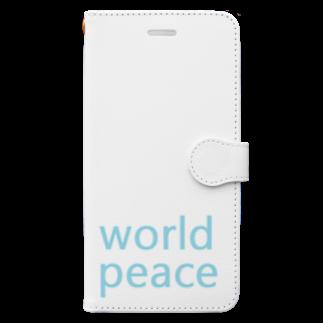アメリカンベースの世界平和 Book-style smartphone case