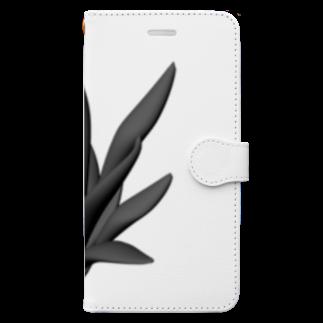 viofranme.のFurcraea_Plant_one BLK Book-style smartphone case