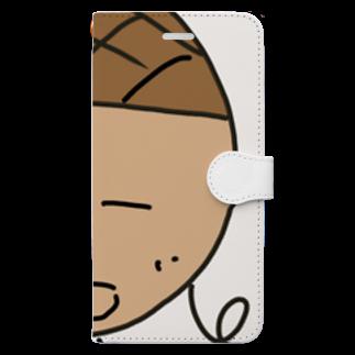 rittyanrandoのりっちゃんランドグッズ Book-style smartphone case