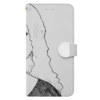 ★ 藤崎幾何 ★ illustrationの×××× 女の子 Book-style smartphone case