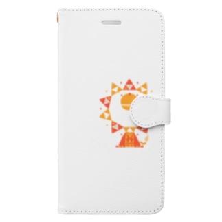 ライオンテキスタイル柄 Book-style smartphone case
