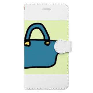 ダイナマイト87ねこ大商会のカバンの中に米粒を入れてくるねこです Book-style smartphone case