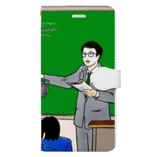 指し棒を節約する教師 Book-style smartphone case