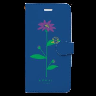 ととめめ/ totomemeのととめめ本日のお花:4月21日 Book-style smartphone case